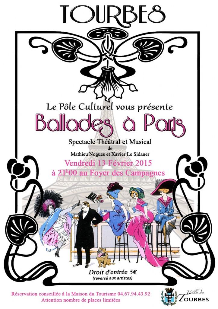 Affiche Ballade à Paris