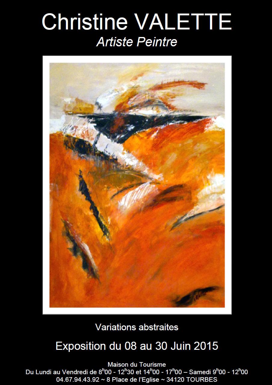 Affiche Christine Valette_Variations abstraites
