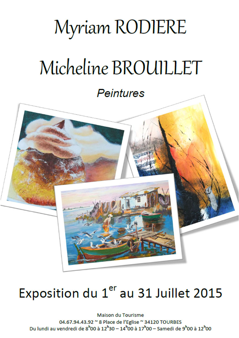 Myriam RODIERE_Micheline BROUILLET - Affiche