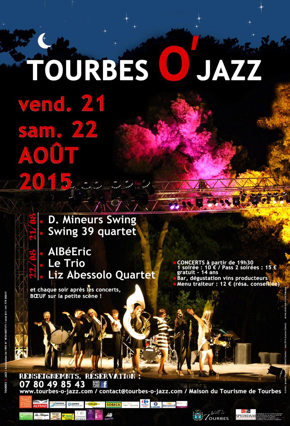 affiche TOURBES O JAZZ 2015 internet