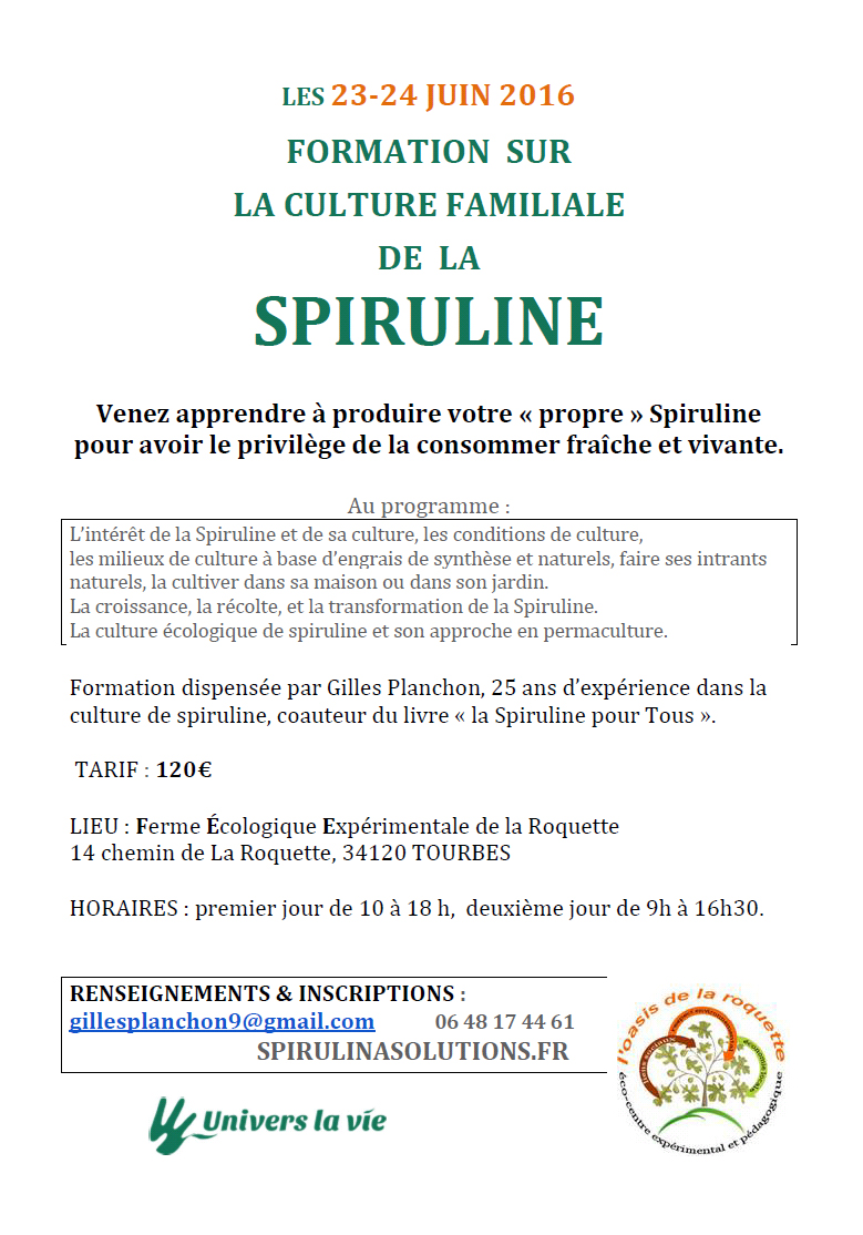 Formation Spiruline