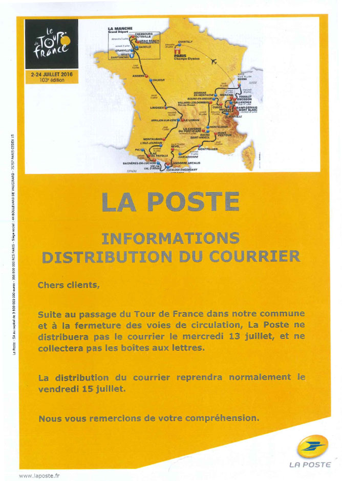 La poste pas de distribution du courrier le tourbes - La poste renvoi courrier demenagement ...
